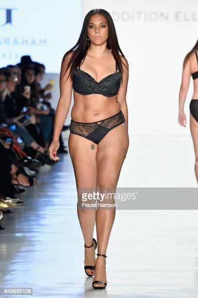 A model walks the runway for ADDITION ELLE NYFW September 2017 Runway Presentation on September 11 2017 in New York City