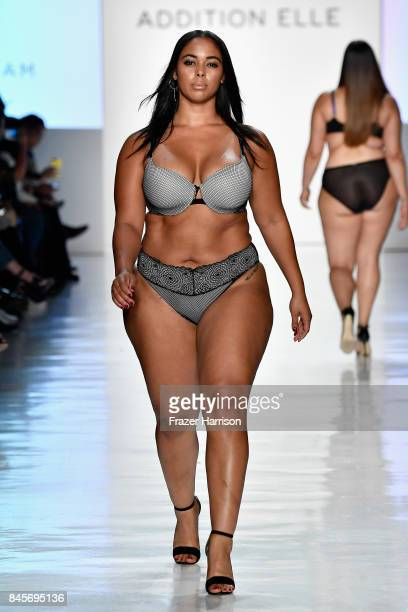 A model walks the runway for ADDITION ELLE NYFW September 2017 Runway Presentation on September 11 2017 in New York City