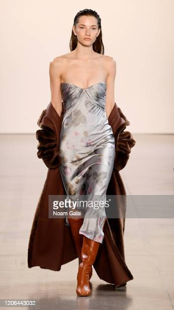 A model walks the runway for Alejandra Alonso Rojas fashion show during February 2020 New York Fashion Week The Shows at Gallery II at Spring Studios...