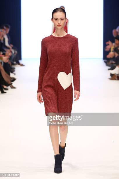 Model walks the runway for Alice Rico show at the Fashionyard show during Platform Fashion January 2018 at Areal Boehler on January 27 2018 in...