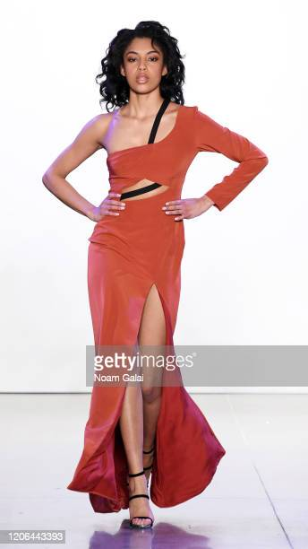 A model walks the runway for Aliette during New York Fashion Week The Shows at Gallery II at Spring Studios on February 12 2020 in New York City