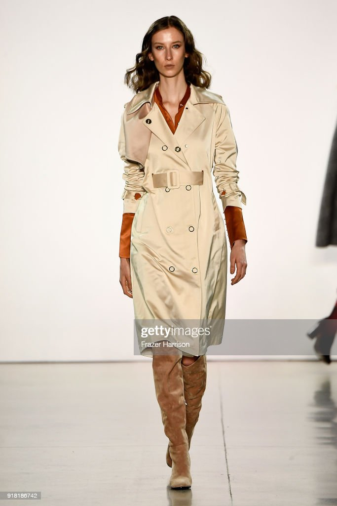 A model walks the runway for All Comes From Nothing during New York Fashion Week: The Shows at Gallery II at Spring Studios on February 14, 2018 in New York City.