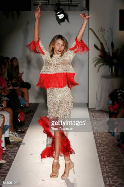 Model walks the runway for Anna Francesca Fashion Show during New York Fashion Week at Stewart Hotel on September 9, 2017 in New York City.