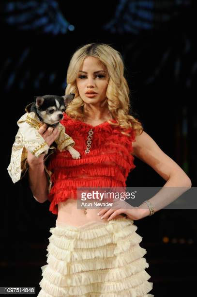 A model walks the runway for ANTHONY RUBIO At New York Fashion Week Powered By Art Hearts Fashion NYFW at The Angel Orensanz Foundation on February...