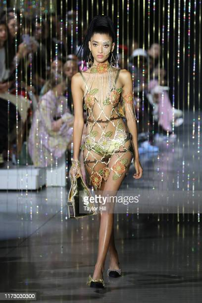 A model walks the runway for Area during New York Fashion Week The Shows at Gallery I at Spring Studios on September 07 2019 in New York City