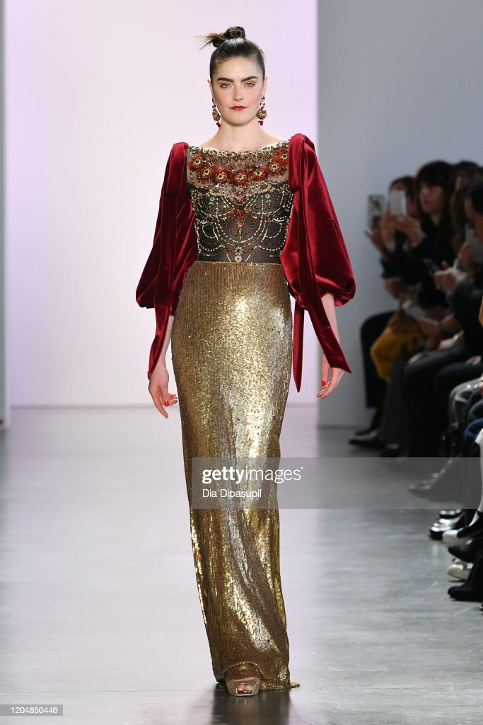 Badgley Mischka - Runway - February 2020 - New York Fashion Week: The Shows : Foto di attualità