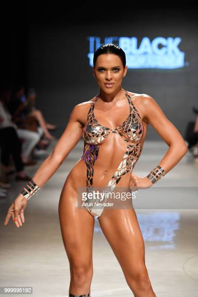 Designer Joel Alvarez walks the runway for Black Tape Project at Miami Swim Week powered by Art Hearts Fashion Swim/Resort 2018/19 at Faena Forum on...