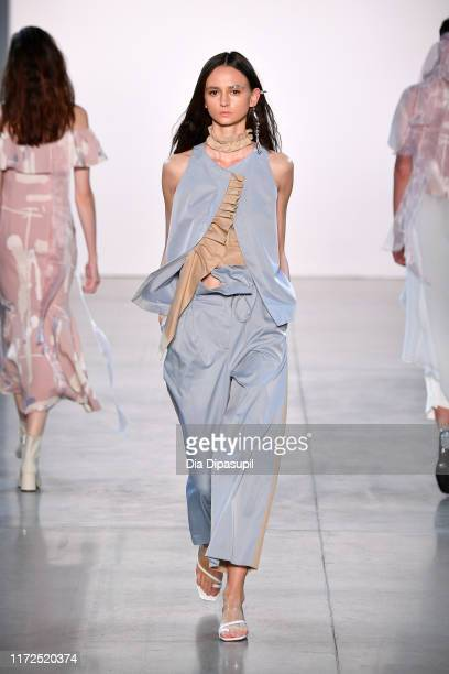 A model walks the runway for Blancore during New York Fashion Week The Shows at Gallery II at Spring Studios on September 05 2019 in New York City