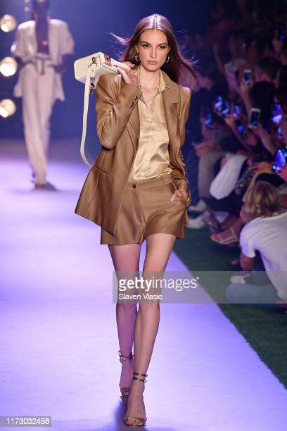 Model walks the runway for Brandon Maxwell during New York Fashion Week: The Shows on September 07, 2019 in New York City.
