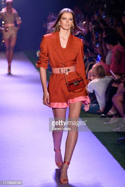 A model walks the runway for Brandon Maxwell during New York Fashion Week The Shows on September 07 2019 in New York City