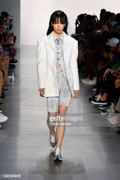 A model walks the runway for C Plus Series during New York Fashion Week The Shows at Gallery I at Spring Studios on September 12 2018 in New York City