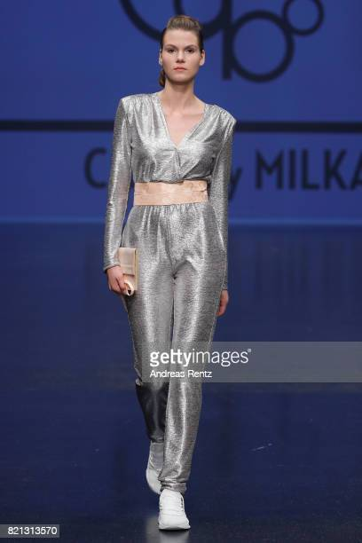 A model walks the runway for 'Cabo by Milka' at the PF Selected show during Platform Fashion July 2017 at Areal Boehler on July 23 2017 in...