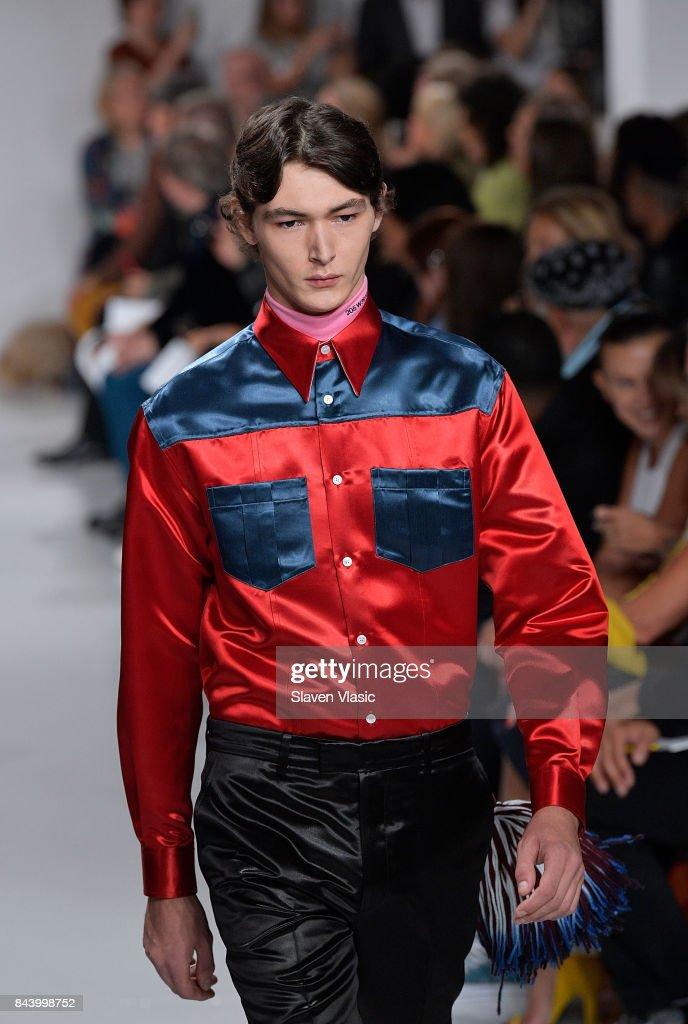 A model walks the runway for Calvin Klein Collection fashion show during New York Fashion Week on September 7, 2017 in New York City.