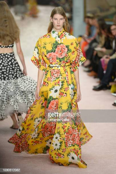 A model walks the runway for Carolina Herrera during New York Fashion Week The Shows on September 10 2018 in New York City