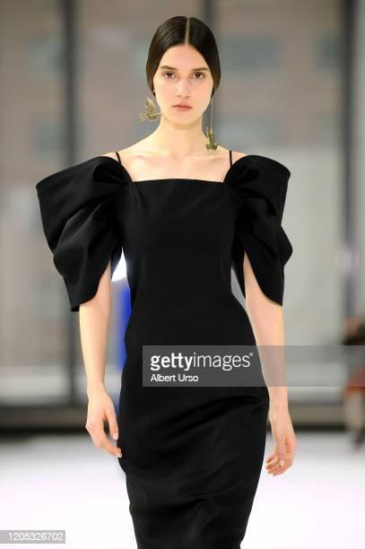 Model walks the runway for Carolina Herrera during New York Fashion Week on February 10, 2020 in New York City.