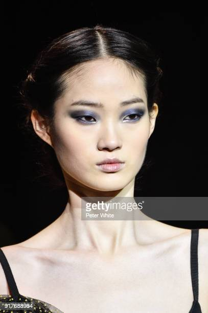 A model walks the runway for Carolina Herrera during New York Fashion Week at The Museum of Modern Art on February 12 2018 in New York City