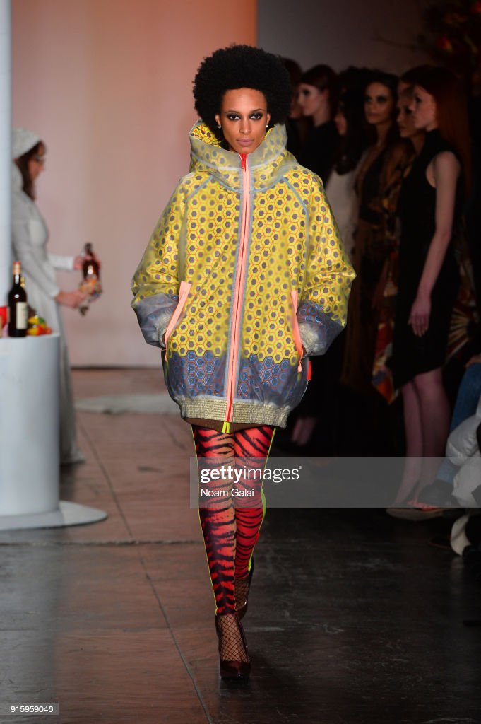 Xuly.Bet x Mimi Prober x Hogan McLaughlin front row during New York Fashion Week presented by First Stage at Industria Studios on February 8, 2018 in New York City.