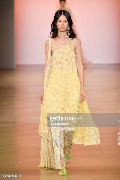 A model walks the runway for China Day Xu Zhi during New York Fashion Week The Shows on September 08 2019 in New York City