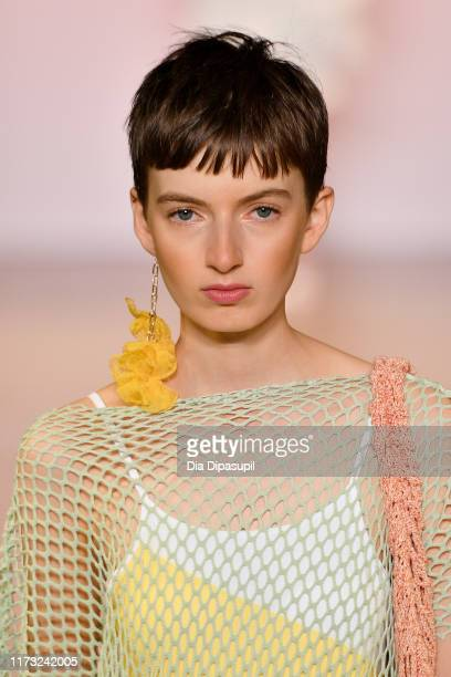 Model walks the runway for China Day: Xu Zhi during New York Fashion Week: The Shows on September 08, 2019 in New York City.