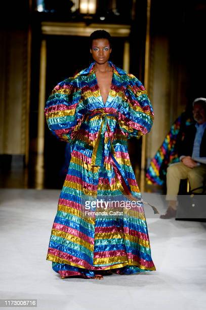 A model walks the runway for Christian Siriano during New York Fashion Week The Shows September 07 2019 in New York City