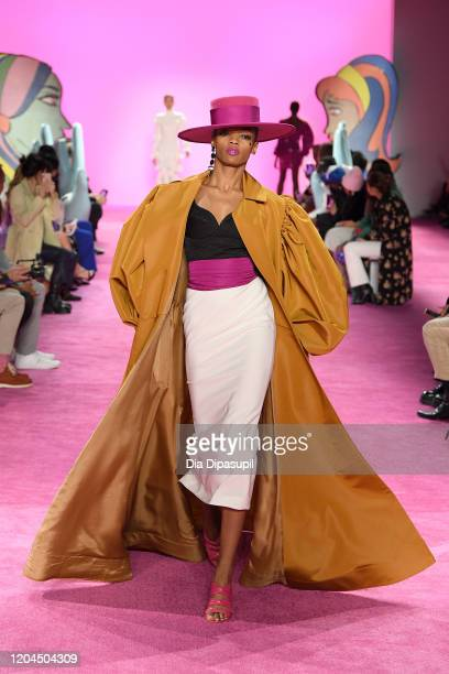 A model walks the runway for Christian Siriano during New York Fashion Week The Shows at Gallery I at Spring Studios on February 06 2020 in New York...