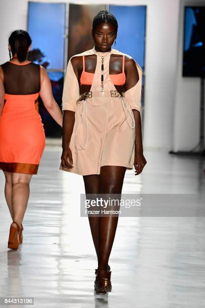 A model walks the runway for Chromat during New York Fashion Week at Gallery 3 Skylight Clarkson Sq on September 8 2017 in New York City
