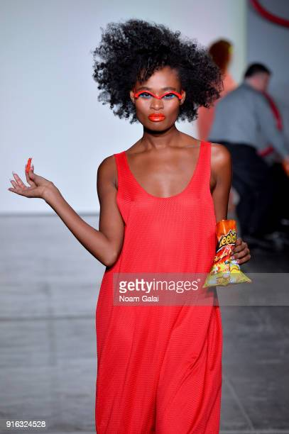 A model walks the runway for Chromat during New York Fashion Week The Shows at Industria Studios on February 9 2018 in New York City