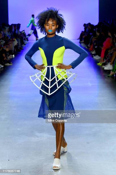 A model walks the runway for Chromat Spring/Summer 2020 during New York Fashion Week The Shows at Gallery I at Spring Studios on September 07 2019 in...