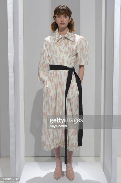 A model walks the runway for Claudia Li fashion show during September 2017 New York Fashion Week The Shows at Gallery 3 Skylight Clarkson Sq on...
