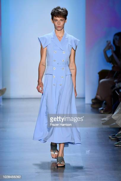 A model walks the runway for Concept Korea during New York Fashion Week The Shows at Gallery I at Spring Studios on September 7 2018 in New York City