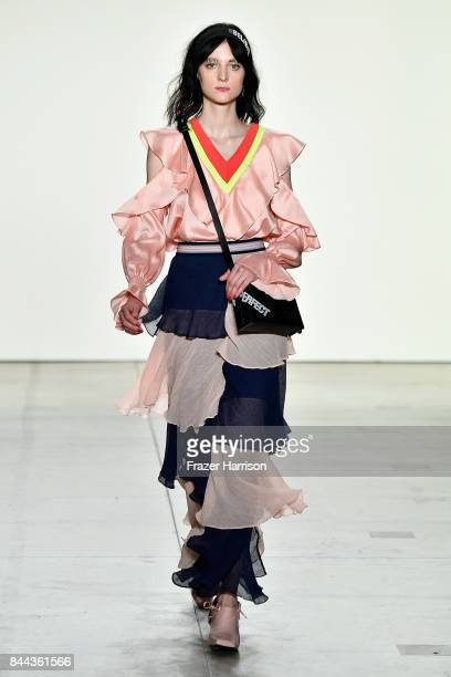 A model walks the runway for Concept Korea Fashion Show during New York Fashion Week The Shows at Gallery 2 Skylight Clarkson Sq on September 8 2017...