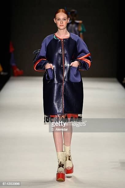 A model walks the runway for Cosmic Love by Lale Inceoglu Dogu at the New Gen By Ima show during MercedesBenz Fashion Week Istanbul at Zorlu Center...