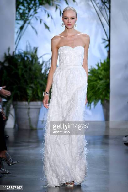 A model walks the runway for Dennis Basso during New York Fashion Week The Shows at Gallery I at Spring Studios on September 11 2019 in New York City