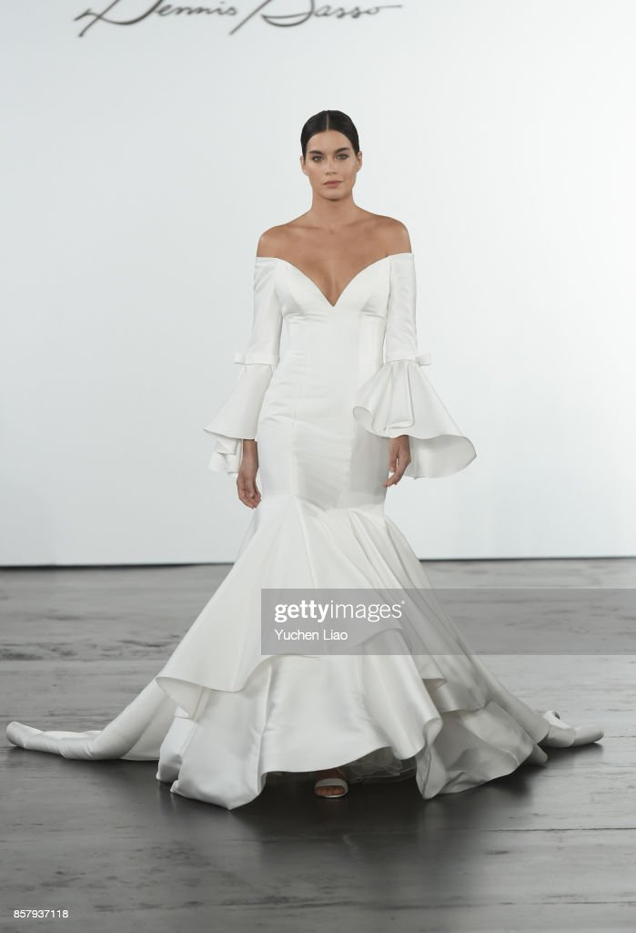 buy online 37e89 e959d A model walks the runway for Dennis Basso for Kleinfeld ...