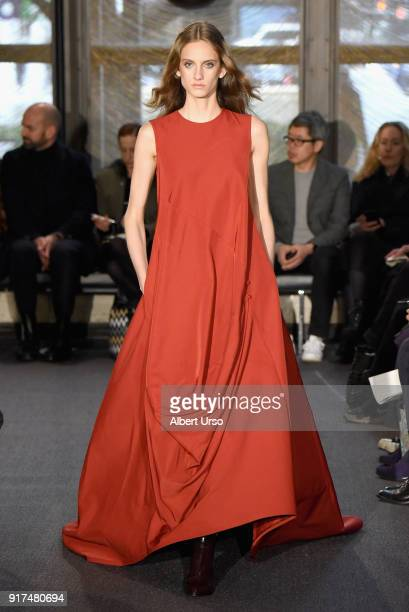 A model walks the runway for Derek Lam during New York Fashion Week The Shows on February 12 2018 in New York City