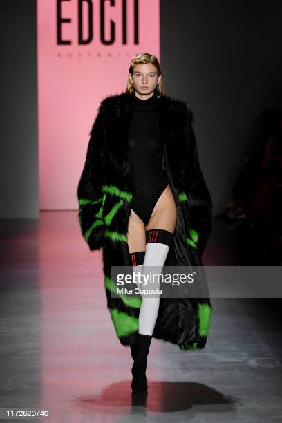 A model walks the runway for EDGII NYFW Fashion Show during New York Fashion Week The Shows at Gallery I at Spring Studios on September 05 2019 in...