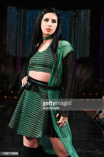 A model walks the runway for EMMA ALTMAN APPAREL At New York Fashion Week Powered By Art Hearts Fashion NYFW at The Angel Orensanz Foundation on...