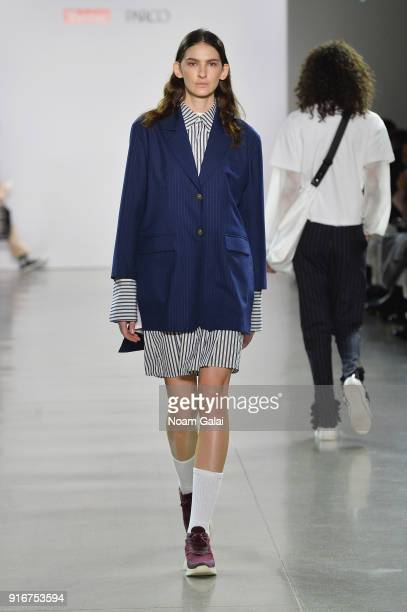 A model walks the runway for epi a la mode at Asia Fashion Collection during New York Fashion Week The Shows Gallery II at Spring Studios on February...