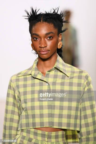 A model walks the runway for Fe Noel during New York Fashion Week The Shows at Gallery II at Spring Studios on February 12 2020 in New York City