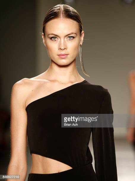 A model walks the runway for Flare Street at Fashion Palette New York Fashion Week Spring/Summer 2018 at Pier 59 on September 12 2017 in New York City
