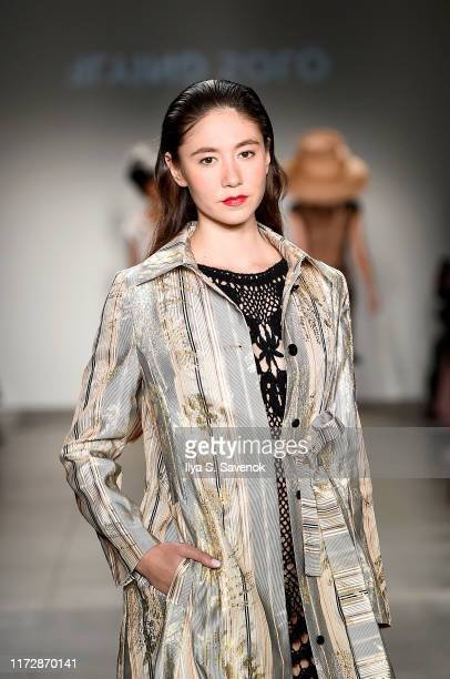 A model walks the runway for Flying Solo Runway Show September 2019 Part 2 at Pier 59 on September 06 2019 in New York City