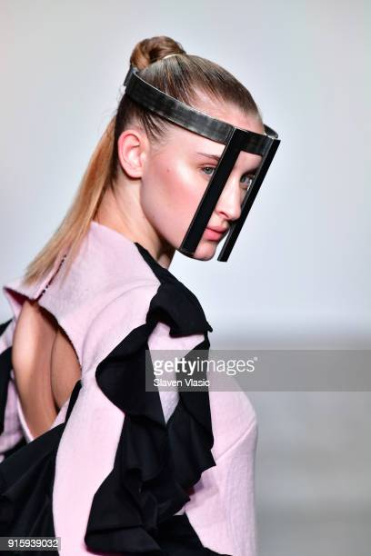 A model walks the runway for Global Fashion Collective Presents Kim Tiziana Rottmuller during New York Fashion Week First Stage at Industria Studios...