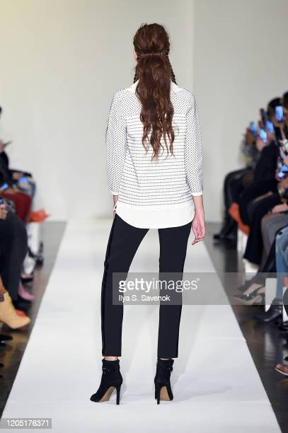 A model walks the runway for Hair Couture New York Fashion Week at The Prince George Ballroom on February 09 2020 in New York City