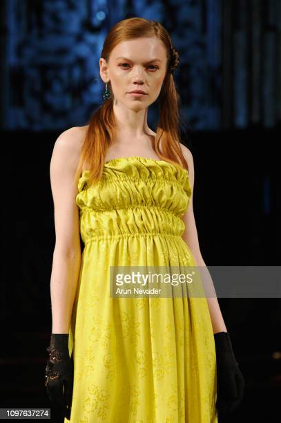 A model walks the runway for HELEN CASTILLO NEW YORK At New York Fashion Week Powered By Art Hearts Fashion NYFW at The Angel Orensanz Foundation on...