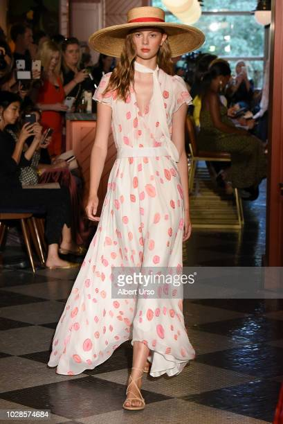 A model walks the runway for Hellessy fashion show during September 2018 New York Fashion Week at Legacy Records on September 7 2018 in New York City