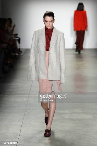 Model walks the runway for HIGHTLI at the Global Fashion Collective II fashion show during New York Fashion Week: The Shows at Pier 59 Studios on...