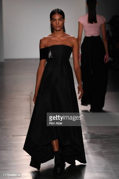 Model walks the runway for Hogan McLaughlin during New York Fashion Week: The Shows at Pier 59 Studios on September 09, 2019 in New York City.