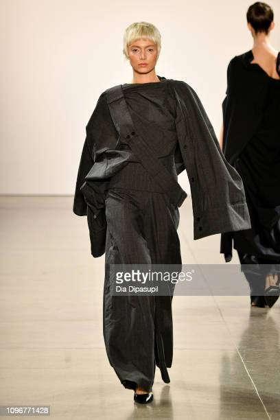 Model walks the runway for HYUN JUNG at the Asia Fashion Collection fashion show during New York Fashion Week: The Shows at Gallery II at Spring...