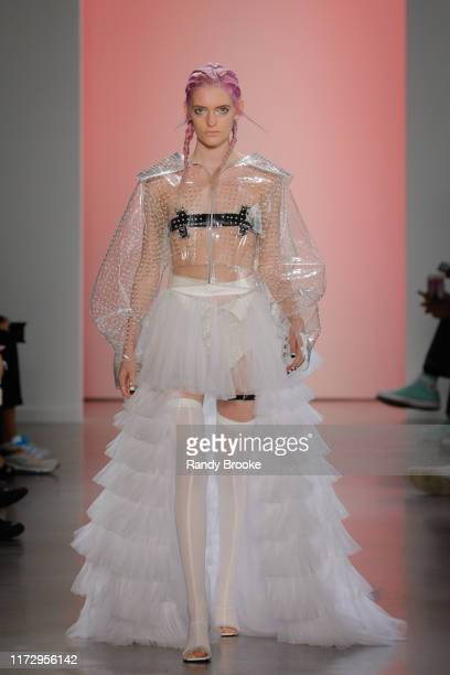 A model walks the runway for I Love Pretty during New York Fashion Week The Shows at Gallery I at Spring Studios on September 06 2019 in New York City