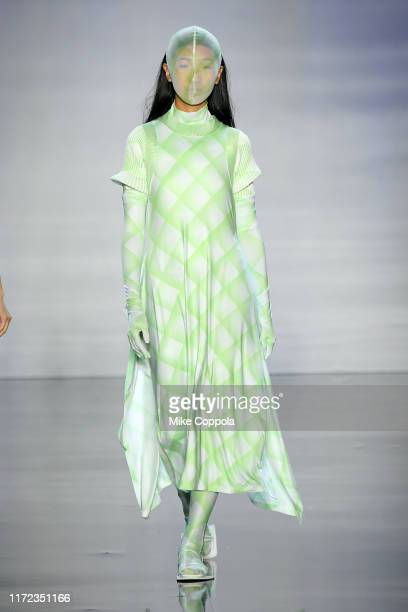 A model walks the runway for ICY Presents Dynasty during New York Fashion Week The Shows at Gallery I at Spring Studios on September 04 2019 in New...